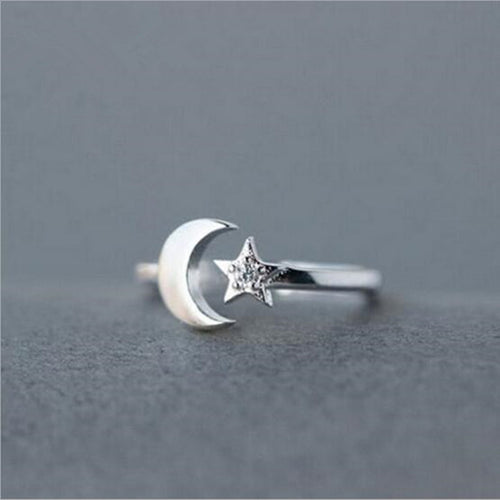 Star & Moon Ring - Nautical Sun Beads