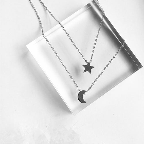 Dainty Star and Moon Choker - Nautical Sun Beads