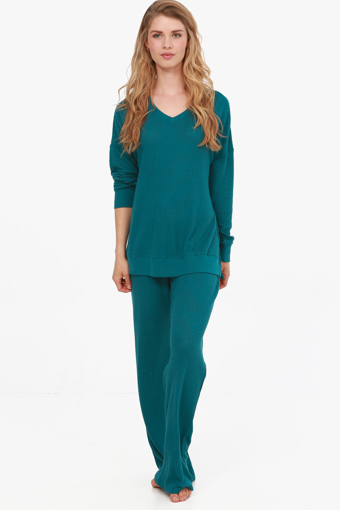 JNY- Brushed Thermal Knit Loungewear Set