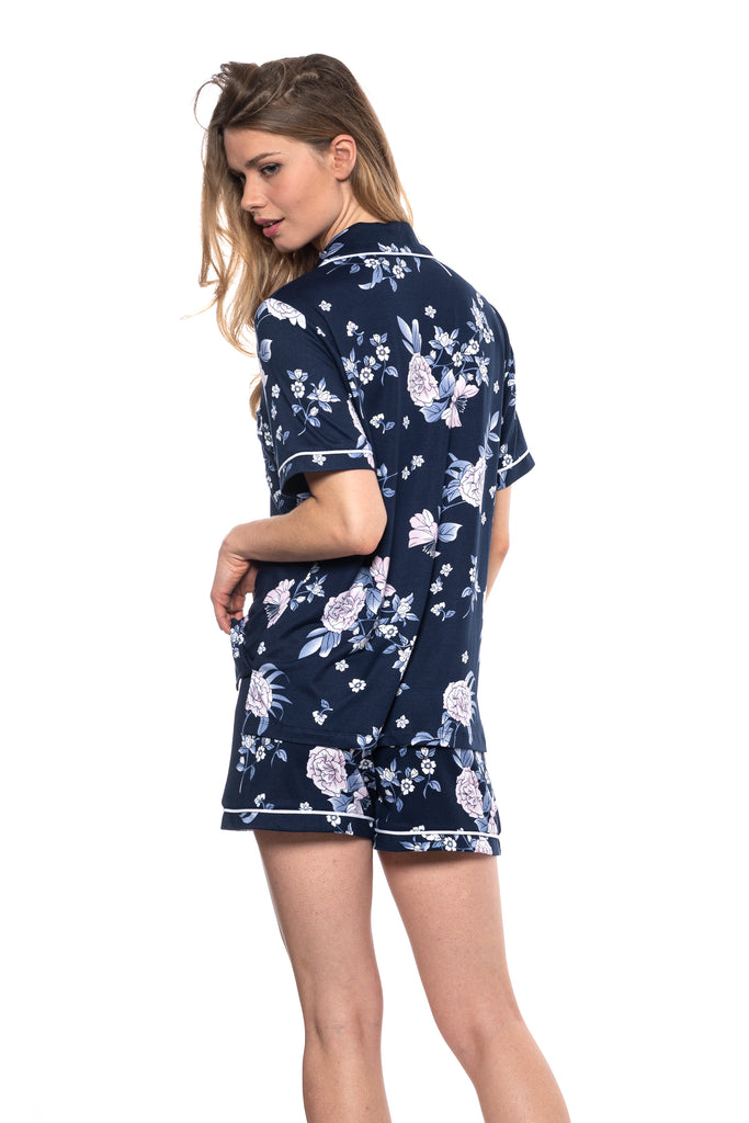 JNY -  Floral Printed Jersey Short Set