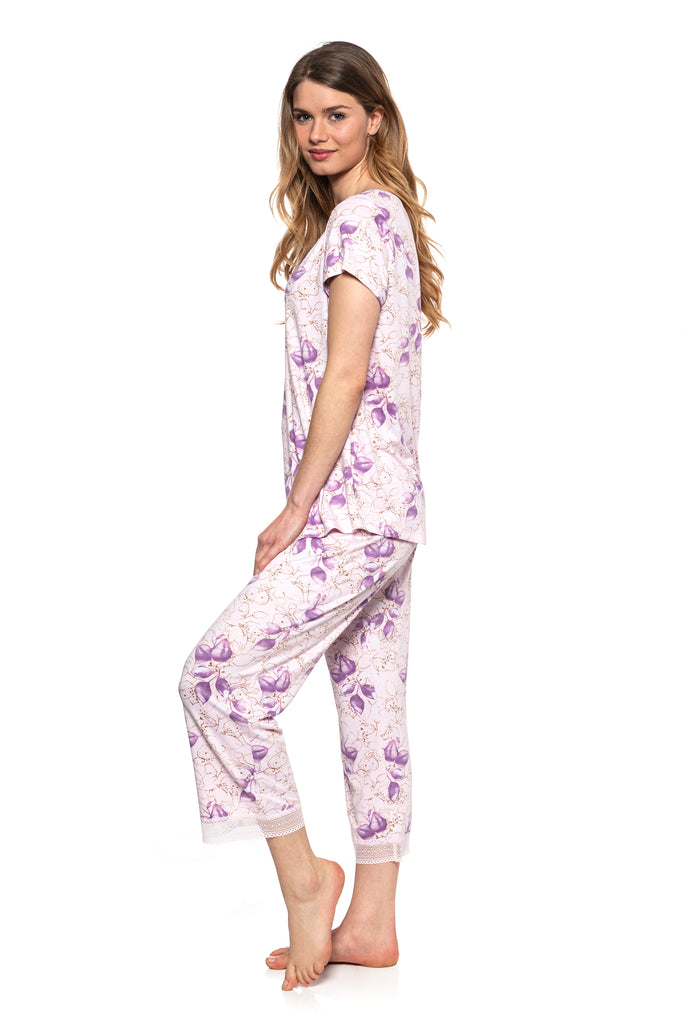 JNY - Nature Inspired Print Jersey Capri Set