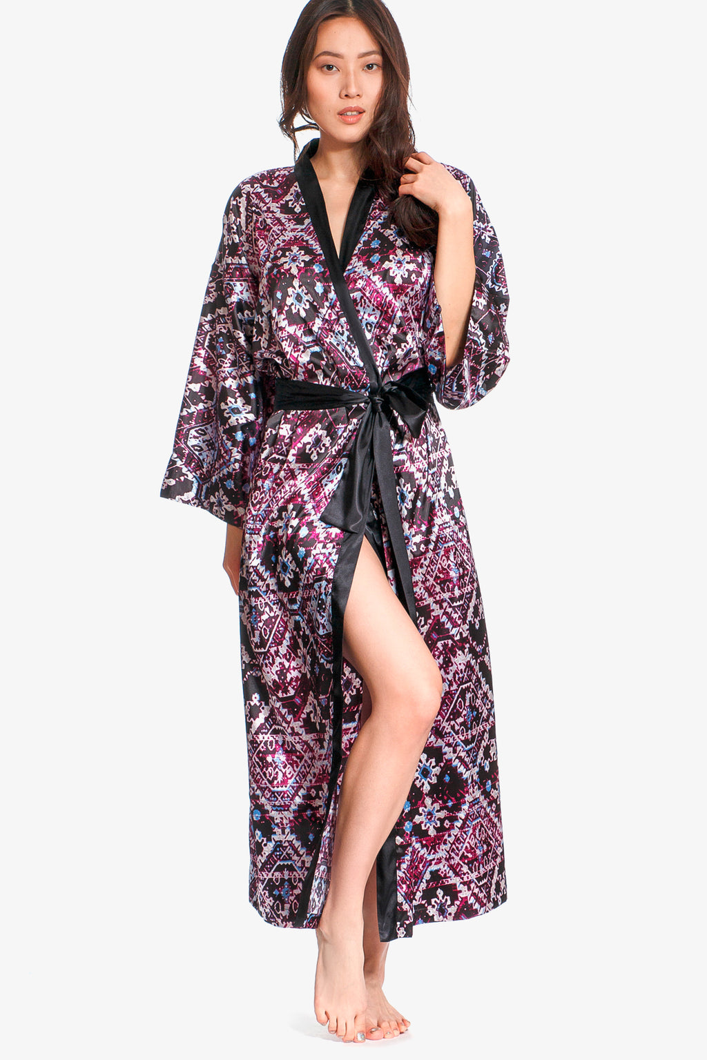 Jones New York Long Satin Kimono