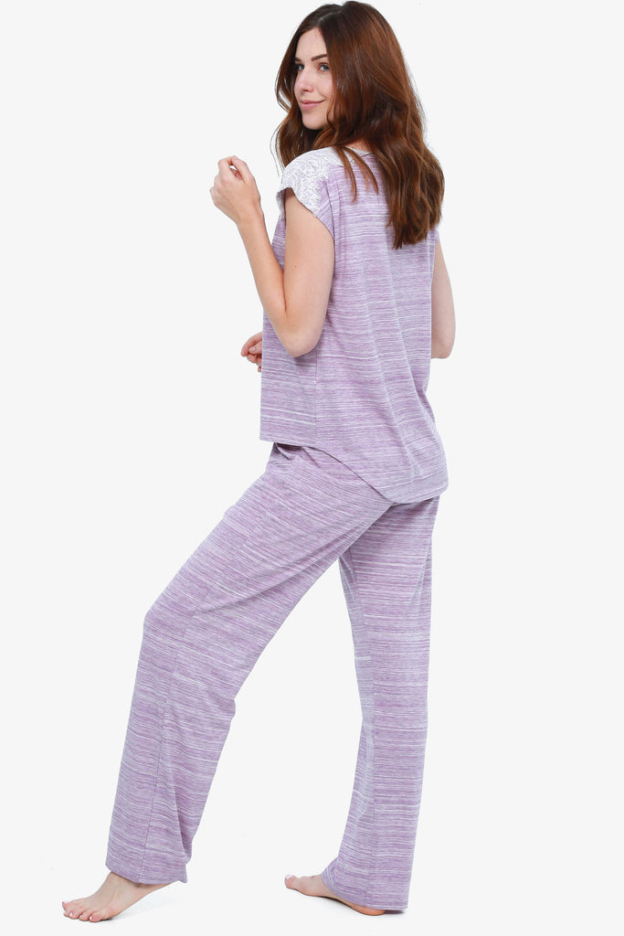 JNY - Space Dyed Capri Pajama Set (Amethyst)