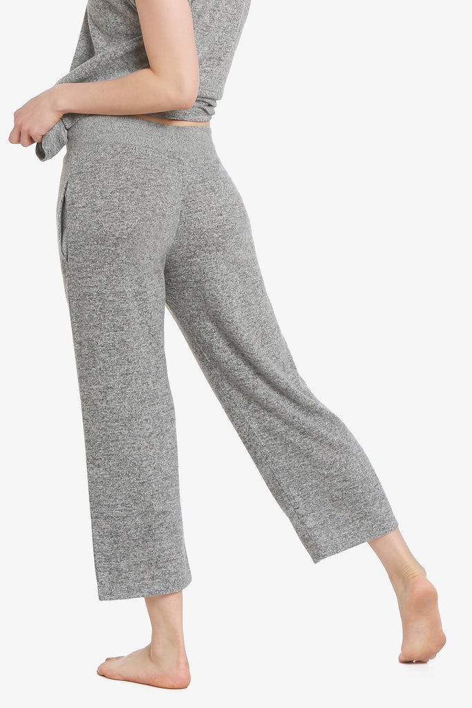 JNY - Brushed Knit Hacci Capri Pajama Pants (Grey)