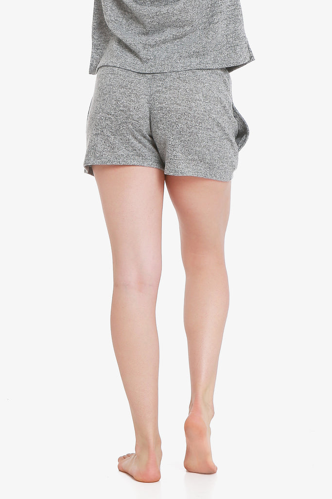 JNY - Brushed Knit Hacci Pajama Shorts (Grey)