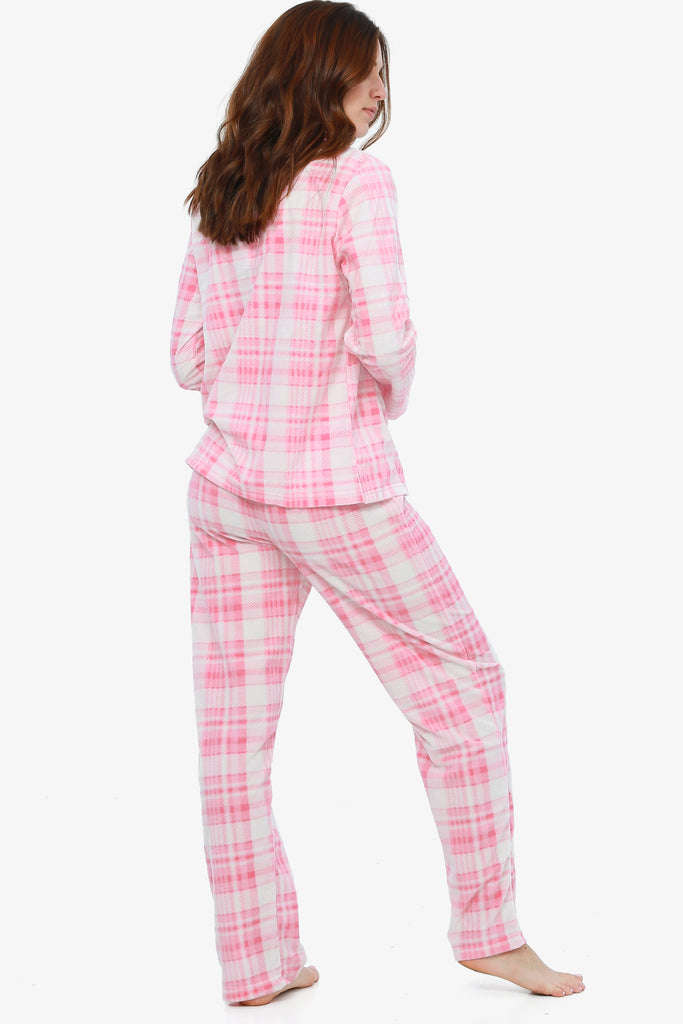 Breast Cancer Awareness Plaid Pajama Set (First Blush)