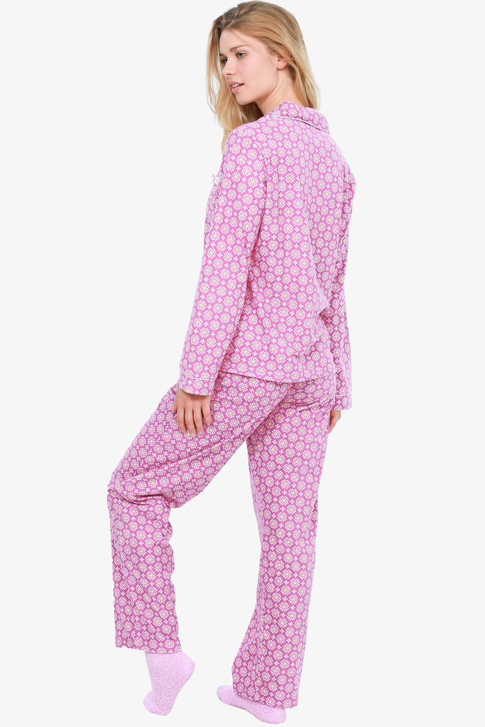 FLANNEL PAJAMA SET WITH SOCKS (PINK)