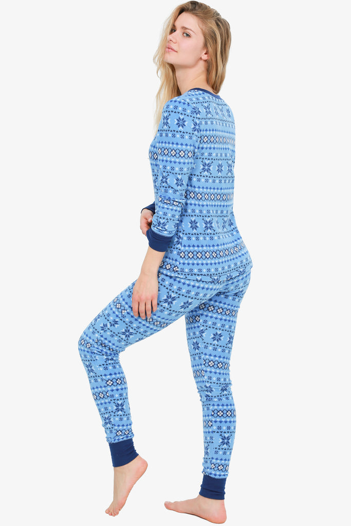 Micro-Fleece Pajama Set (Blue)