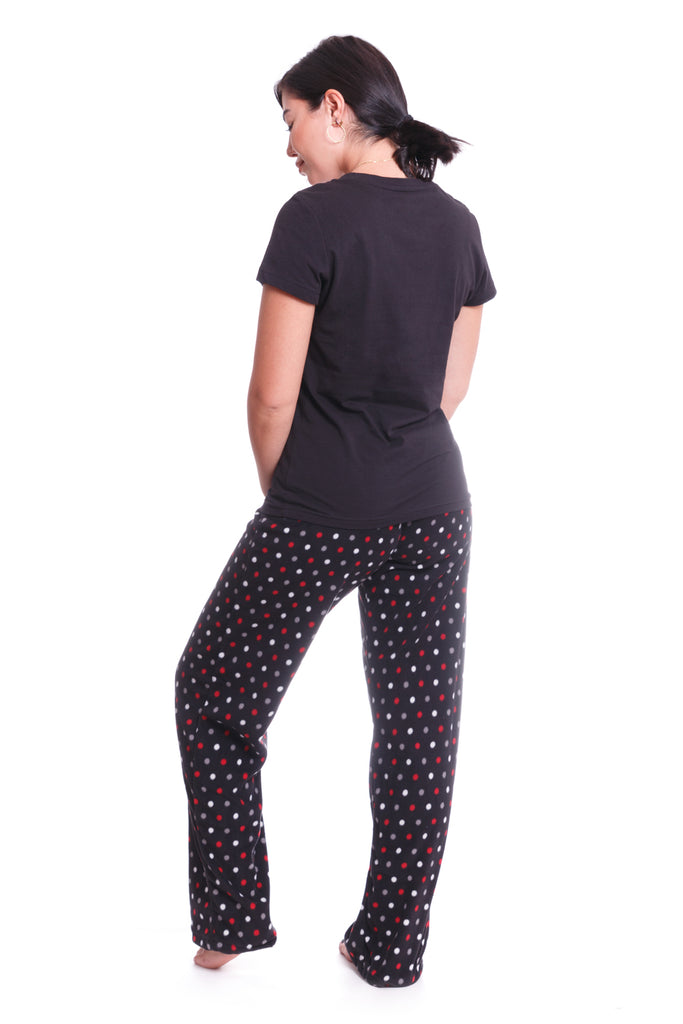 Black Polka Dot 3-Piece Pajama Set - XL & XXL ONLY