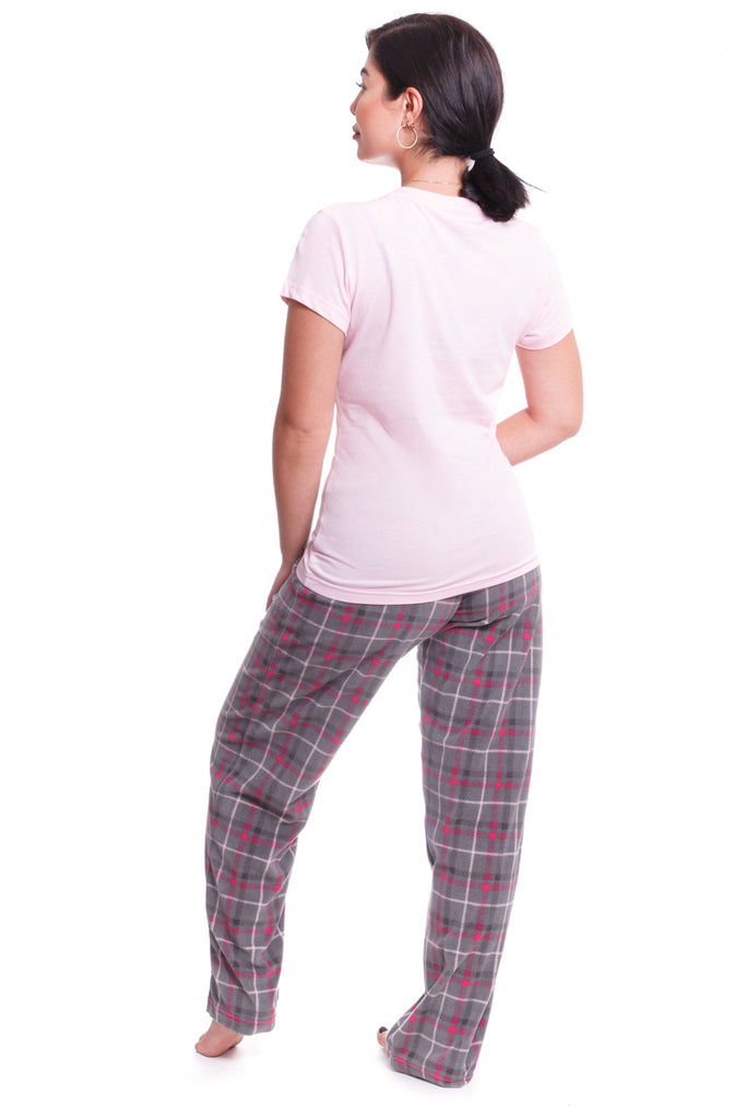 Bittersweet Pink Plaid 3-Piece Pajama Set