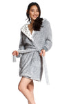 Short Fleece Poncho Robe