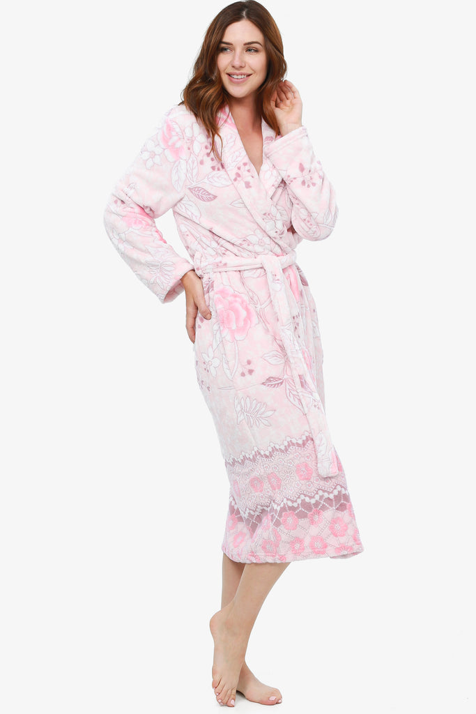 The Floral Burnout Robe