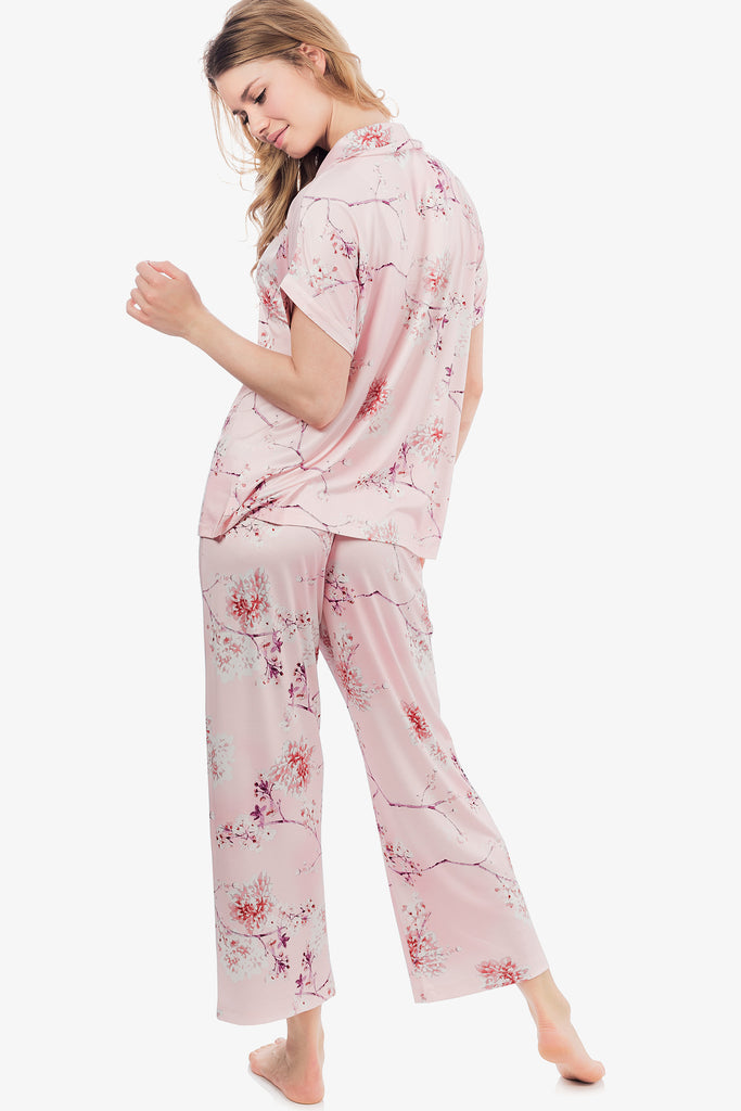 JNY - Capri Knit Pajama Set (Floral Rose)