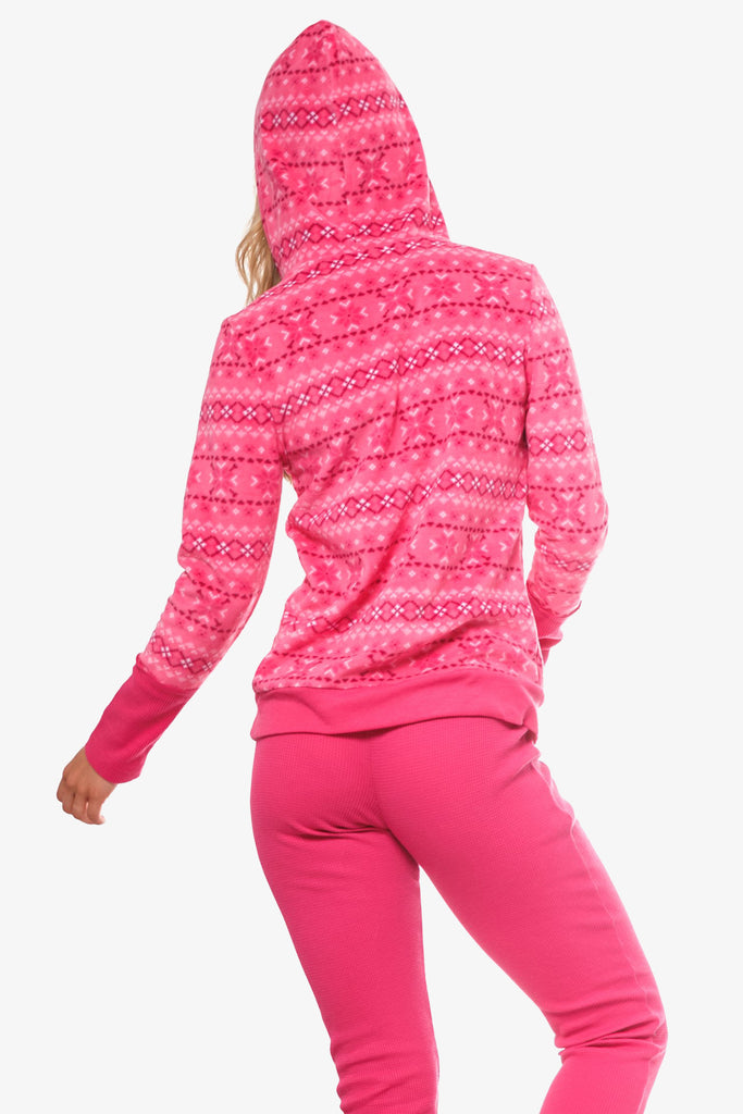 The Cozy Hoodie 2-Piece Pajama Set (Pink)