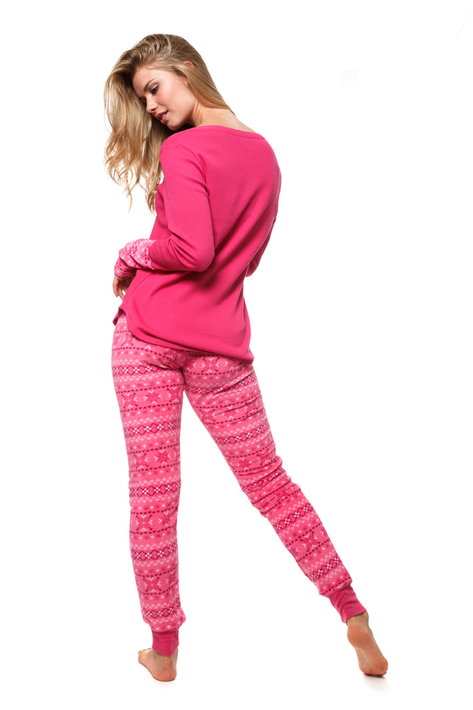 The Cozy 2-Piece Pajama Set (Pink)
