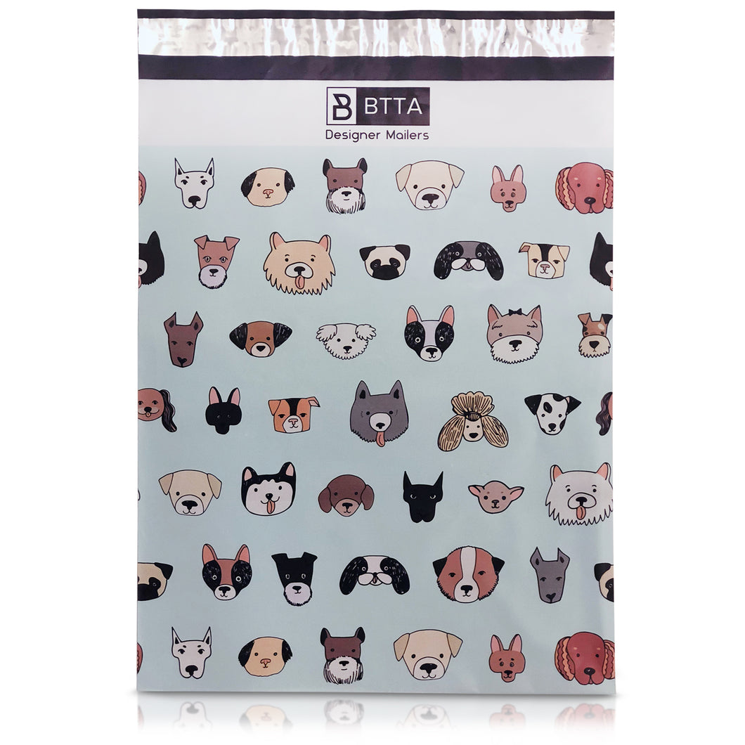 10 x 13 Dogs and Puppies Designer Poly Mailers