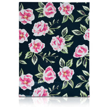 10x13 Designer poly mailers shipping bag envelopes with pink and green flowers custom printed color design back view