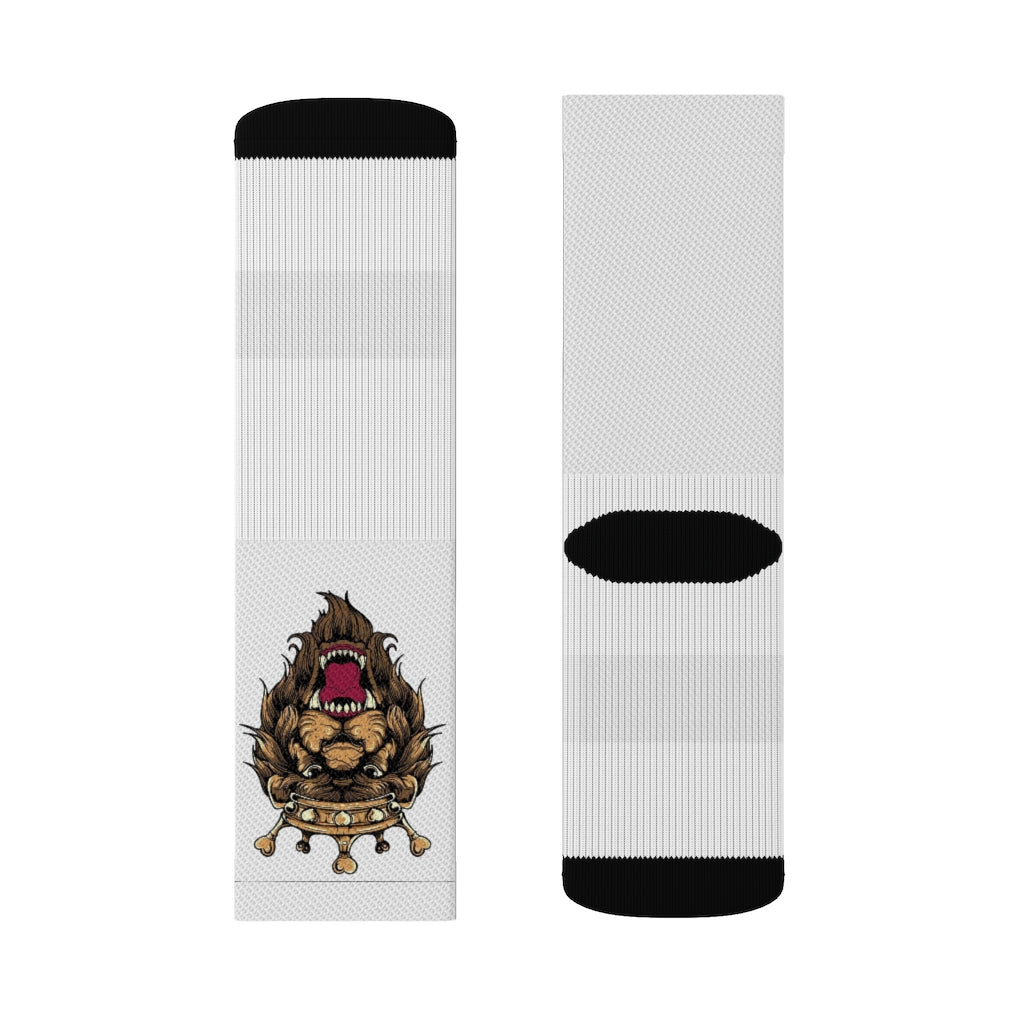 Men lion Sublimation Socks
