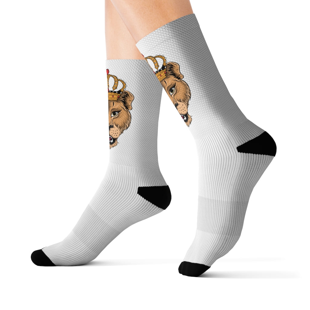 Heart of A Lion Female Sublimation Socks