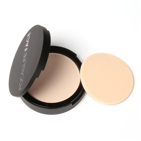 FOCALLURE 3 Colors Brand Makeup  Face Powder Foundation White Shimmer Highlight Pressed Powder Palette FA16