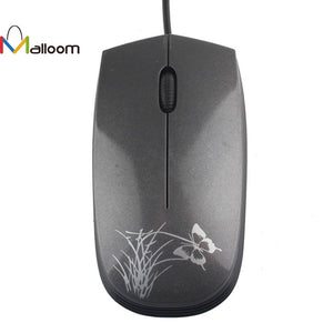 Malloom 2017 PC Accessories Mouse Wireless USB 2.0 Wired Game Mouse Small Optical LED Mouse For PC and Laptop Computers
