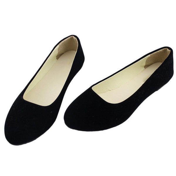 2018 Fashion Soft shoes Slip-on for female women flat shoes round toe daily casual shoes