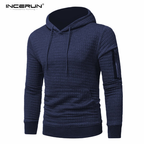 Solid Fleece Hoodie Men Tracksuit Men's Thick Clothes Winter Hip Hop Hooded Sweatshirt Men Pullover Zipper Trimming Hoodies 3XL
