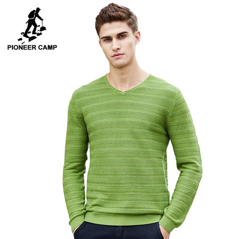 Pioneer Camp 2018 New Spring sweater men famous brand clothing fashion V-neck knit male sweater fashion casual pullover 655106