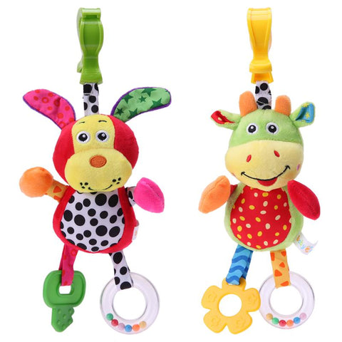 Newborn Baby Cute Rattles Soother Toys Baby Stroller Pram Bed Hanging Toys Kids Plush Educational Toys Baby Funny Teether Toy
