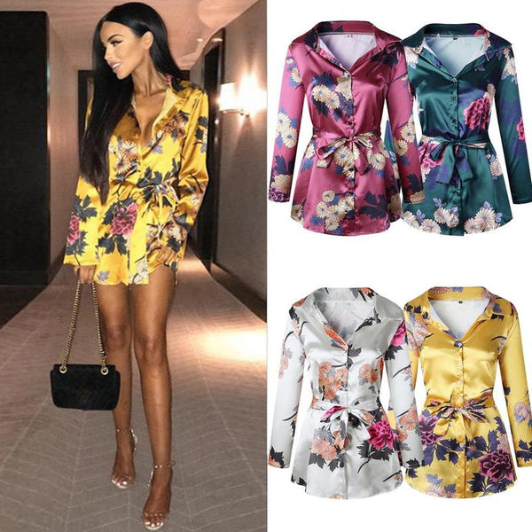 2018 Women Floral Lace Deep V neck Women Sexy Mini Dress Bodycon Dresses Shirt Dress