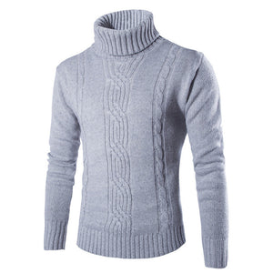 Winter Men Sweater Pullover Turtleneck Solid Knitted Slim Fit Casual Hedging Sweaters Men Fashion sueter hombre Men Clothes 2018