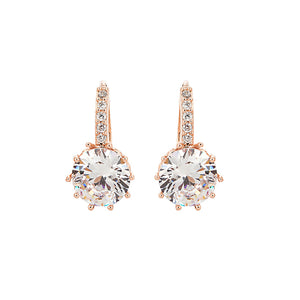 Women Crystal Earrings Jewelry Ear Drop Decoration Party Accessory for Wedding