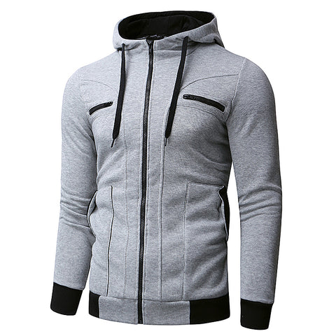 Stylish New Men's Sweatshirts Hoodies Long Sleeve Hoodies Men Zipper Sweatshirt Hoodies HipHop Winter Men Clothes Masculino 2018