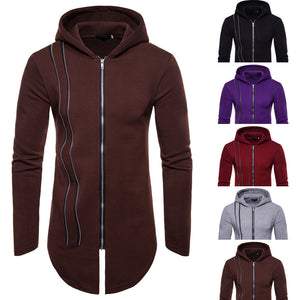 Mens' Autumn Winter Long Sleeve Zipper Splicing Hoodies Sweatshirt Tracksuits