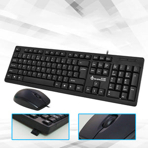 Waterproof Wired Fashion Business Office Computer Accessories Keyboard and Mouse Set Commerce Mouse ABS