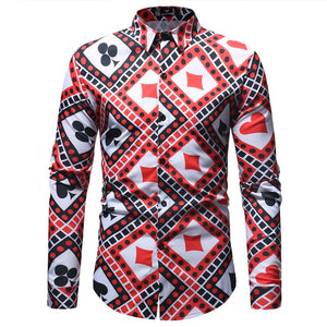New Fashion Mens Print Shirt