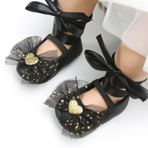 18Newborn BabyGirl Toddler Soft The First Walker Shoes Baby Girl Cute Bow Tie Decoration Baby Princess Dance Spring Autumn Shoes