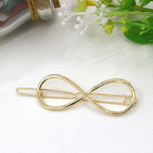 1 pcs simple geometric round circle hairpins long pin hair stick for women accessories