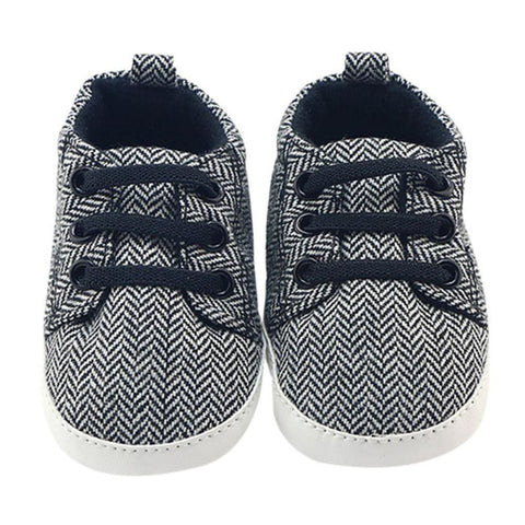 Newborn Canvas Shoes Infantil Baby Boy Shoes First Walkers Lace-Up Striped Baby Sneakers Boys infant toddler First Walker