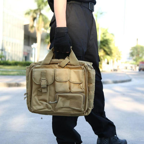 600D Nylon Shoulder MOLLE Bags Laptop Camera Computer Waterproof Bag Outdoor Sports Accessories