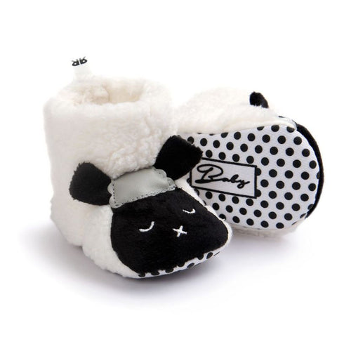 Winter New Baby Shoes Girls Warm Baby Girls Comfort Toddler Girl Shoes Infant Girl Bear Woolen Boots Baby Shoes nz17