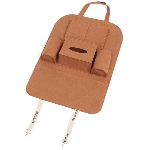 2x Beige/Brown/Black Universal Auto Car Seat Back Multi-Pocket Storage Bag Holder Accessory 56x40cm Car Styling Stowing Tidying