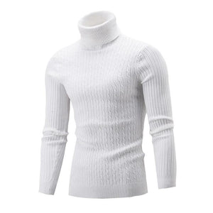 2017 Male Brand Casual Solid Color Knitt Simple Sweaters Men Comfortable Hedging Turtleneck Men'S Sweater