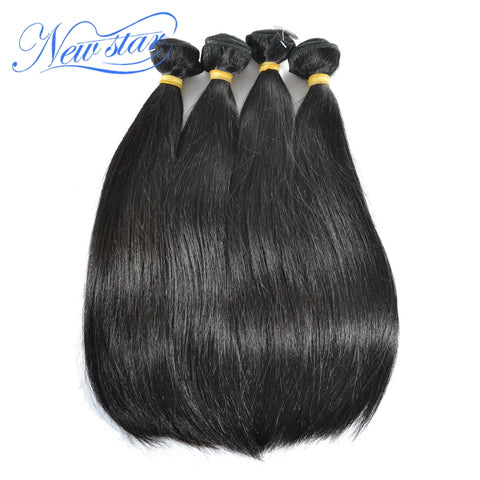 Peruvian Straight Virgin Human Hair 4 Bundles Thick Extension 100%Unprocessed Natural Color Raw Hair Weaving New Star Hair