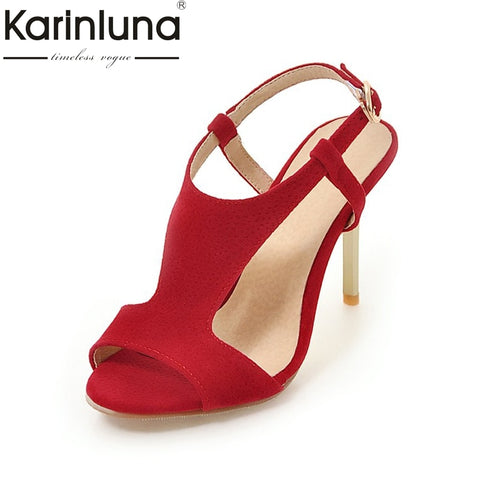 KarinLuna Big Size 30-48 Wholesale Top Quality Thin High Heels Summer Shoes Woman Sexy Party Sandals Shoes Women