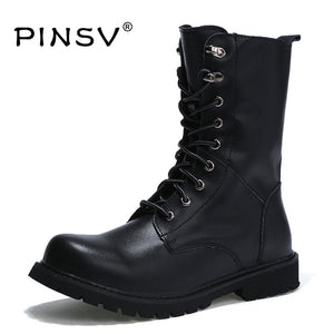 Winter Martin Military Boots Men Shoes Leather Men Boots Brand Fur Boots For Men Autumn Winter Shoes Zapatos Hombre Size 38-48