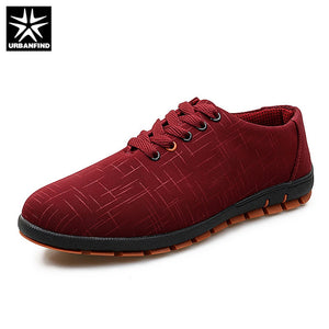 URBANFIND Breathable Comfortable Man Lace-up Sneakers Flats Size 38-45 Autumn Spring Shoes Men Canvas Casual Shoes