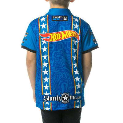 HOT WHEELS STUNT TEAM POLO - BLUE