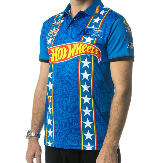 HOT WHEELS MENS TEAM POLO - BLUE