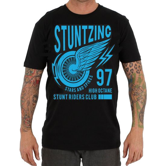 STUNTZ INC STUNT RIDERS CLUB BLUE TEE